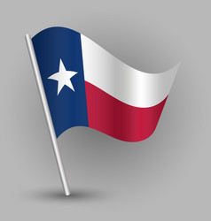 triangle american state texas flag vector image vector image