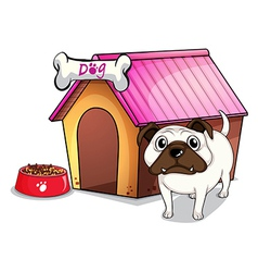 A dog outside doghouse vector