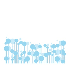 Abstract blue bubble for banners or your text vector