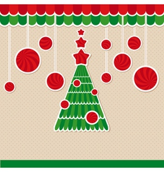 abstract christmas lovely cute card vector image