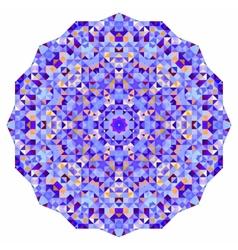 Abstract colorful circle backdrop mosaic round vector image