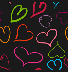 abstract seamless pattern with colored hearts and vector image