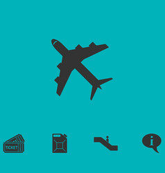 Airplanes icon flat vector