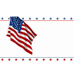 american flag design on white background vector image