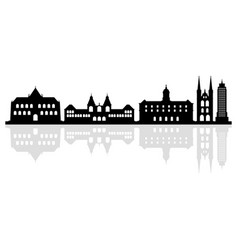 amsterdam skyline on white background vector image