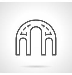 Architectural elements black line icon vector