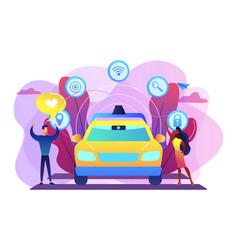 autonomous driving concept vector image