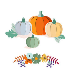 autumn harvest and thanksgiving day poster design vector image