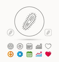 bacteria icon medicine infection symbol vector image vector image