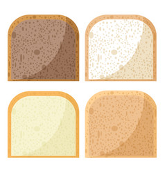 bread pieces whole wheat bread rye bread and vector image