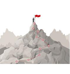 cartoon route challenge concept landscape vector image