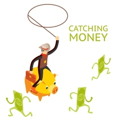 Catching money concept vector image