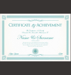 Certificate or diploma retro vintage background 2 vector