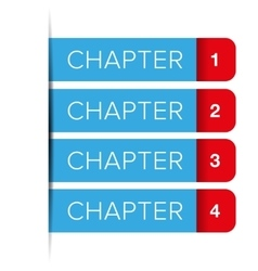 chapter one two three four vector image
