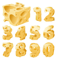 cheese figures set vector image