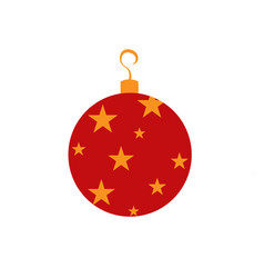 christmas red ball on white background for graphic vector image