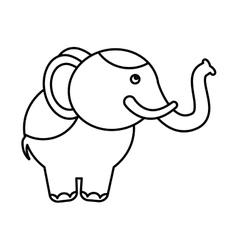 Circus elephant isolated icon vector