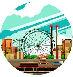 cityscape view city vector image