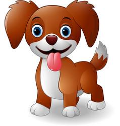 cute baby dog cartoon vector image