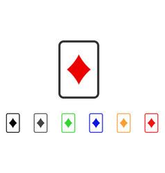 Diamonds gambling card icon vector