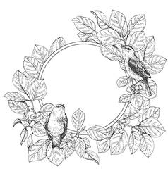 Doodle frame bird vector