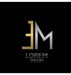 EM letters logo vector image