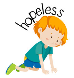 English vocabulary word hopeless vector