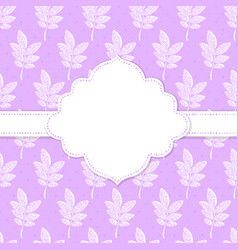 Frame with nature pattern vector