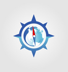global compass logo sign symbol icon vector image