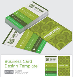 green business cards template vector image