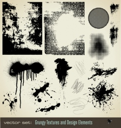 Grungy textures and design element vector