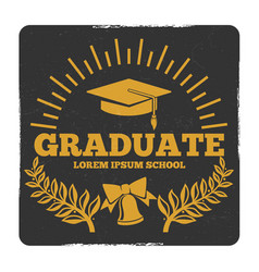 high school and college graduation off to school vector image