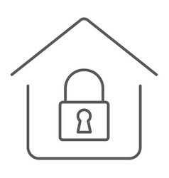 home lock thin line icon real estate and home vector image