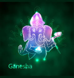 image of the god ganesh with the head of vector image
