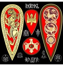 King Rurik symbolics set vector image