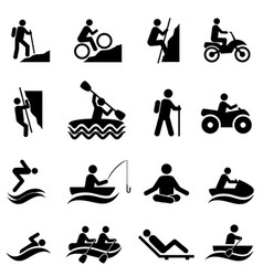 Leisure and recreational activities icons vector