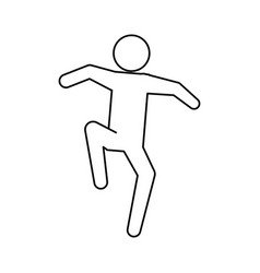 line pictogram man silhouette doing exercise vector image