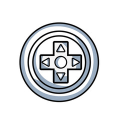 line videogame symbol to play and videogame vector image
