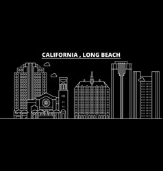 Long beach silhouette skyline usa - long beach vector