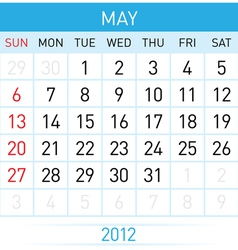 may calendar vector image