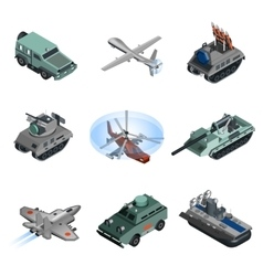 Military Equipment Isometric vector