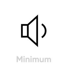 minimum sound music icon editable line vector image