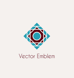 mosaic rhomb emblem vector image