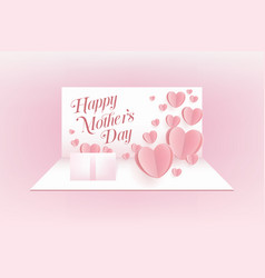 mother postcard on pink background vector image