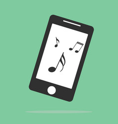 music on your smartphone icon elements of web vector image