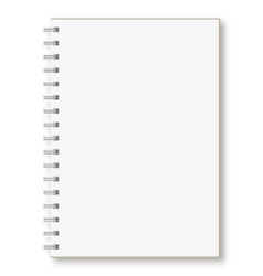 Notebook on a white background vector image