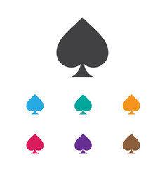 of game symbol on spades icon vector image
