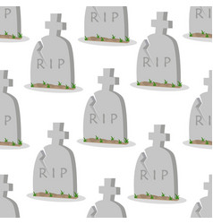 Old gravestone with cracks seamless pattern vector