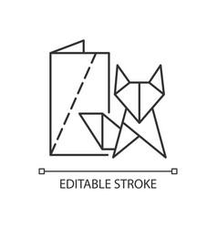 Origami linear icon vector