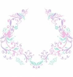 Ornamental flowers vector